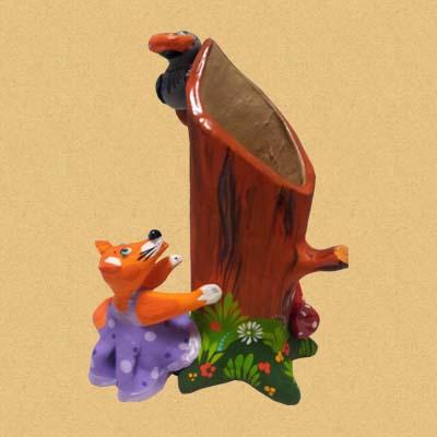 Лиса и ворона - карандашница