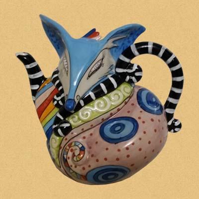 Заварочный чайник Лиса-модница (Modern Fox Teapot)