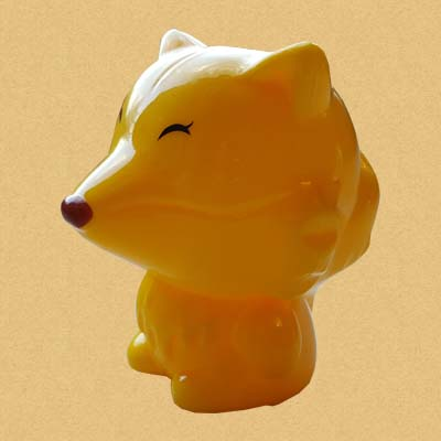 Лиса точилка - желтая